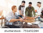 the office workers decided to... | Shutterstock . vector #751652284