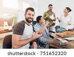 the office workers decided to... | Shutterstock . vector #751652320