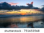 sunset beach landscape sky... | Shutterstock . vector #751653568