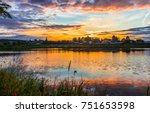 sunset river panoramic landscape | Shutterstock . vector #751653598