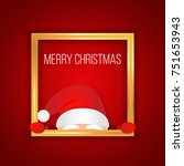 christmas greeting card with... | Shutterstock .eps vector #751653943