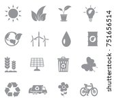 ecology icons. gray flat design.... | Shutterstock .eps vector #751656514
