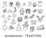 artistic collection of hand...   Shutterstock .eps vector #751657204