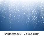 falling snow. christmas and new ... | Shutterstock .eps vector #751661884