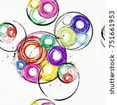 seamless background pattern ... | Shutterstock .eps vector #751661953