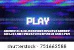 vector play alphabet letters... | Shutterstock .eps vector #751663588