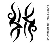 tattoo tribal vector design.... | Shutterstock .eps vector #751665646