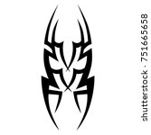 tattoo tribal vector design.... | Shutterstock .eps vector #751665658