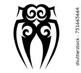 tattoo tribal vector design.... | Shutterstock .eps vector #751665664