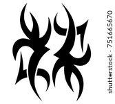 tattoos ideas designs   tribal... | Shutterstock .eps vector #751665670