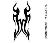 tattoo tribal vector design.... | Shutterstock .eps vector #751665676