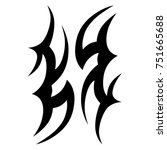 tattoo designs. tattoo tribal... | Shutterstock .eps vector #751665688