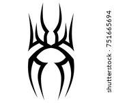 tattoo tribal vector design.... | Shutterstock .eps vector #751665694