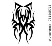 tattoo tribal vector designs.... | Shutterstock .eps vector #751665718