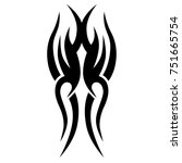 tattoo tribal vector design.... | Shutterstock .eps vector #751665754
