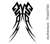 tattoo tribal vector design.... | Shutterstock .eps vector #751665760