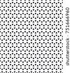 vector seamless pattern. modern ... | Shutterstock .eps vector #751666960