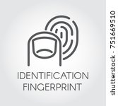 fingerprint identification line ... | Shutterstock .eps vector #751669510