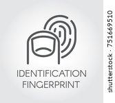 fingerprint identification line ...   Shutterstock .eps vector #751669510