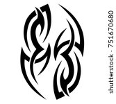tattoo tribal vector design.... | Shutterstock .eps vector #751670680