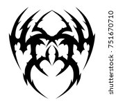 tattoo tribal designs. sketched ... | Shutterstock .eps vector #751670710