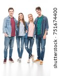 full length view of happy young ... | Shutterstock . vector #751674400