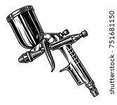 monochrome illustration of... | Shutterstock .eps vector #751681150