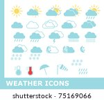 weather icons  raster | Shutterstock . vector #75169066