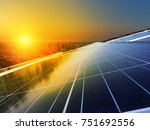 solar panel photovoltaic... | Shutterstock . vector #751692556