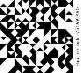 black and white  abstract... | Shutterstock .eps vector #751695490