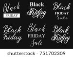 black friday sale typograply.... | Shutterstock .eps vector #751702309