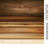 realistic wooden texture... | Shutterstock .eps vector #751702714