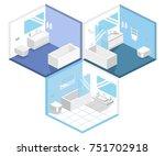 isometric flat 3d concept... | Shutterstock . vector #751702918