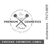 cosmetic label isolated on... | Shutterstock .eps vector #751713859