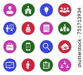 manager icons. white flat... | Shutterstock .eps vector #751713934