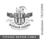 repair label isolated on white... | Shutterstock .eps vector #751713940