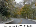 blue ridge parkway early winter   Shutterstock . vector #751714636
