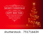 a nice christmas greeting card... | Shutterstock .eps vector #751716634