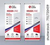 roll up sale banner design... | Shutterstock .eps vector #751720459