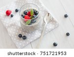 chia pudding with fruit | Shutterstock . vector #751721953