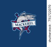 design fish mackerel  modern...   Shutterstock .eps vector #751722070