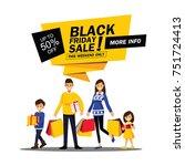 happy family shopping  cartoons ... | Shutterstock .eps vector #751724413