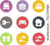 origami corner style icon set   ... | Shutterstock .eps vector #751724980