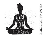 just do yoga. vector... | Shutterstock .eps vector #751727146