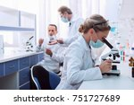 medical worker in lab coat and... | Shutterstock . vector #751727689