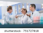 professional team of scientists ... | Shutterstock . vector #751727818