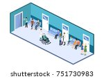 isometric 3d illustration... | Shutterstock . vector #751730983