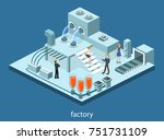 isometric 3d illustration... | Shutterstock . vector #751731109