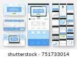 website template  one page... | Shutterstock .eps vector #751733014