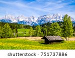mountain wilder kaiser in... | Shutterstock . vector #751737886